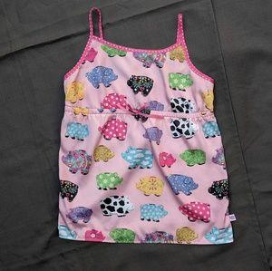 Nick n Nora Cute Piggy Bank Pajama Top Girls